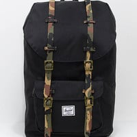 Herschel Supply Co. Little America Black Woodland Camo 25L Backpack | Zumiez