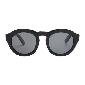 DIME - BLACK FRAME - GREY POLARIZED LENS