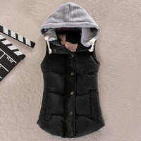 Women Puffer Vest with Hood