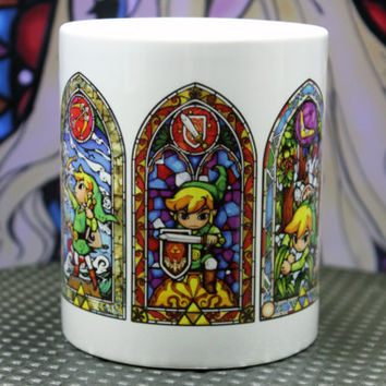 The Legend of Zelda Link Stained Glass Mug Cup