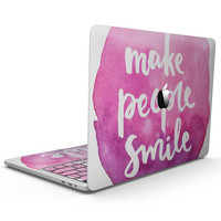 Watercolor Pink Make People Smile - MacBook Pro with Touch Bar Skin Kit