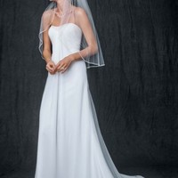Sheath Gown with Beaded Sweetheart Neckline - Davids Bridal