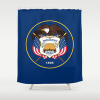 Utah State Flag - Authentic Version Shower Curtain by Bruce Stanfield