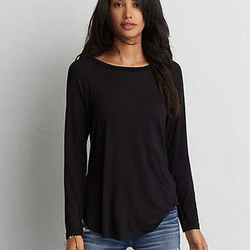 AEO Soft & Sexy Jegging T-Shirt, True Black