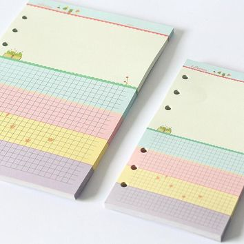 new printed colorful standard A5 A6 planner paper fillers. loose leaf paper fillers