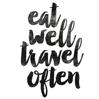 """Home and Living Wall Decor """"Eat Well Travel Often"""" Home Decor Wall Hanging Typography Poster Housewares Art Digital Print"""