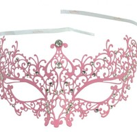 KAYSO INC BA005 Michelle Collection Luxury Metal Filigree Laser Cut Masquerade Mask, White