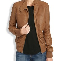 Lucky Brand Sunset Bomber Womens - Camel