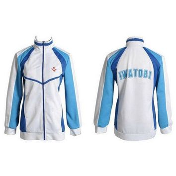 DCCKH6B Cute Unicorn Free! Iwatobi Coat Haruka Nanase Cosplay Costume Unisex Jacket School Uniform Sportswear mens clothes