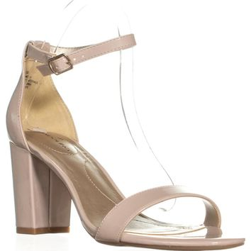 Bandolino Armory Heeled Ankle Strap Sandals, Light Natural, 8 US