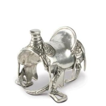 Vagabond House Pewter Cowboy Saddle Napkin Ring S/4