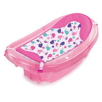 Summer Infant Sparkle N' Splash Newborn To Toddler Bath Tub, Pink