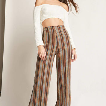 Wide-Leg Stripe Pants