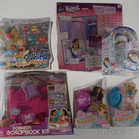 Lot 6 Bratz Lil Angelz Bathtime Sasha Yasmin Cloe Locket Doll Scrapbook Canopy
