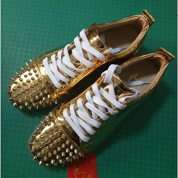 Cl Christian Louboutin Louis Junior Style #2028 Sneakers Fashion Shoes