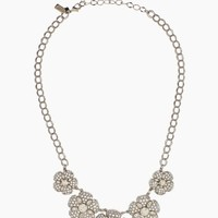 encrusted petals graduated necklace
