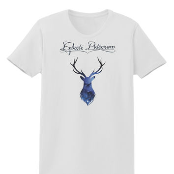 Expecto Patronum Space Stag Womens T-Shirt