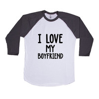I Love My Boyfriend Girlfriend Loving Lovers Relationship Relationships Dating Dates Date Unisex Adult T Shirt SGAL3 Baseball Longsleeve Tee
