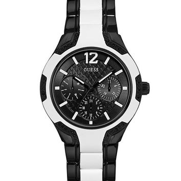 Black and White Style Watch at Guess
