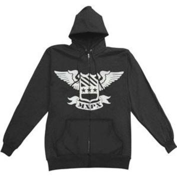 MXPX Men's  Zippered Hooded Sweatshirt Black