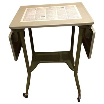 Pre-owned Vintage Metal Typewriter Table