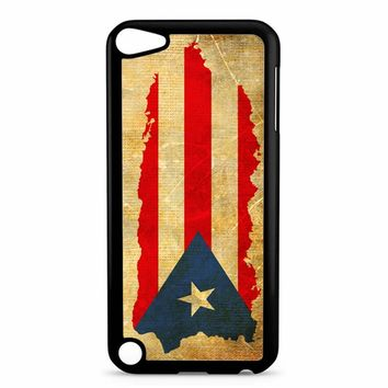Puerto Rico Map Flag iPod Touch 5 Case
