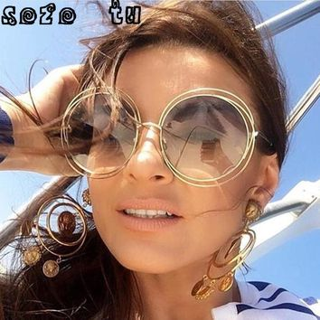 SOZO TU Women Multi-Color Round Sunglasses Glasses Shades Hippie Lennon Ozzy 60s 70s Vintage Steampunk Mirror Glasses uv400