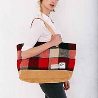 Drifter Bag Plaid Club Tote Bag- Red One