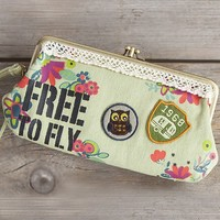 Free  to  Fly  Patch  Wristlet  Clutch  From  Natural  Life