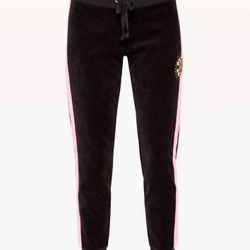 Luxe Tiger Patch Velour Zuma Pant