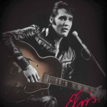 "Elvis ""Leather Jacket"" Medium Weight Mink Blanket"