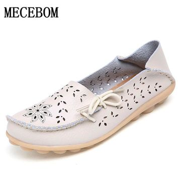 2017 Women's Flats Shoes Women loafers Ladies Shoes Slip on Flats 9 color Leather Sho