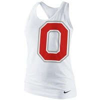 Nike Ohio State Buckeyes Ladies Logo Tri-Blend Racerback Tank Top - White