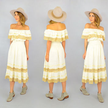 Off-The-Shoulder Mexican Dress