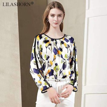 Womens Print Floral Blouse