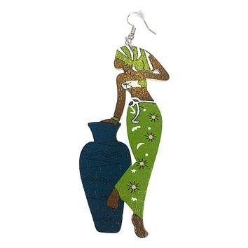 Refreshing Headwrap Lady earrings | Natural hair | Afrocentric | jewelry | accessories