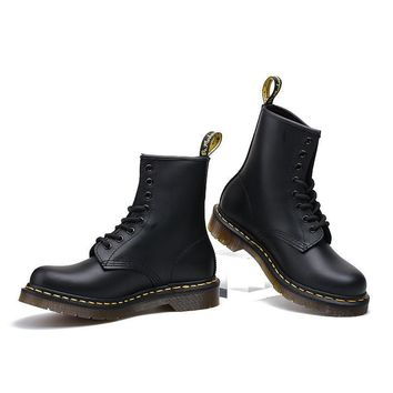 Dr. Martens Handmade Leather High-top Couple Thick Crust Fashion Low-cut Shoes Boots [