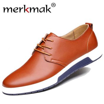 Hot Sale New Casual Shoes Men Fashion Leather Shoes Mens Spring Autumn Men's Flats Oxfords Genuine Leather Man Shoes Driving