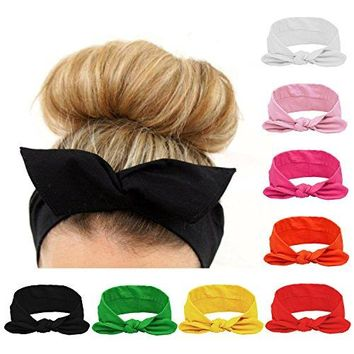 Women Headbands Turban Headwraps Hair Band Bows Accessories for Fashion Or Sport