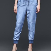 Gap Women 1969 Tencel Denim Jogger Pants