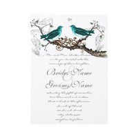 Teal Vintage Birds Wedding Invite from Zazzle.com