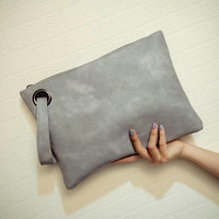 2017 Fashion Women's Clutch Bag Leather Women Envelope Bag Evening Purse Phone Bag Female Clutches Handbag Bolsa Feminina