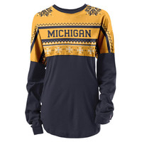 SEARCH League Outfitters University of Michigan Ugly Holiday Oversized Rah Rah Tee