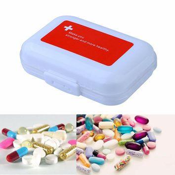 Nail Rhinestone Container Box  Portable Weekly Pill Cases Organizer Medicine Tablet Storage Container Case