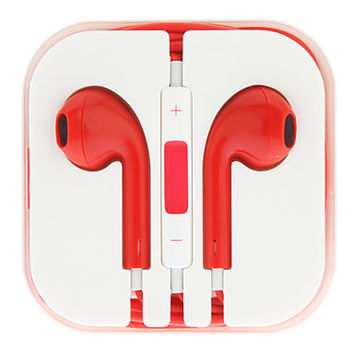 Blood Red Earbuds
