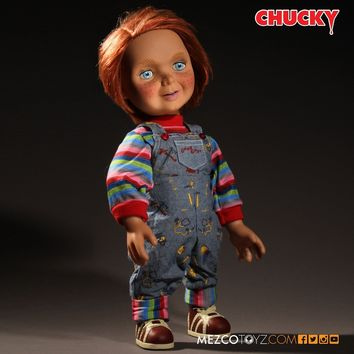 """Mezco Toyz Child's Play Talking Good Guys Chucky 15"""" Doll NEW AUTHENTIC IN STOCK"""