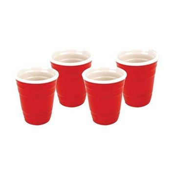Red Cup Shot Glass Set - 4pk