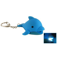 Mini Cute Dolphin LED Keychain with Funny Sound
