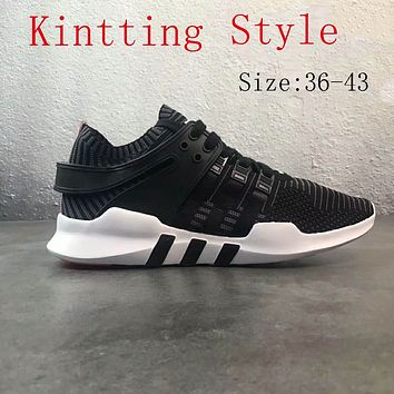 Adidas Clover EQT Support sports breathable shoes F-PSXY Black (knitting style)