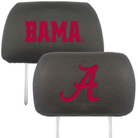 Alabama Crimson Tide NCAA Polyester Head Rest Cover (2 Pack)